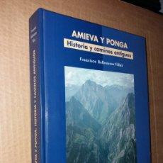 Coleccionismo deportivo: AMIEVA Y PONGA - HISTORIA Y CAMINOS ANTIGUOS. Lote 187230533