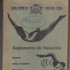 Coleccionismo deportivo: 1940 REGLAMENTO NATACION WATER POLO SALTOS ESCUELA CENTRAL EDUCACION FISICA 110 PAGINAS EJERCITO. Lote 188418422