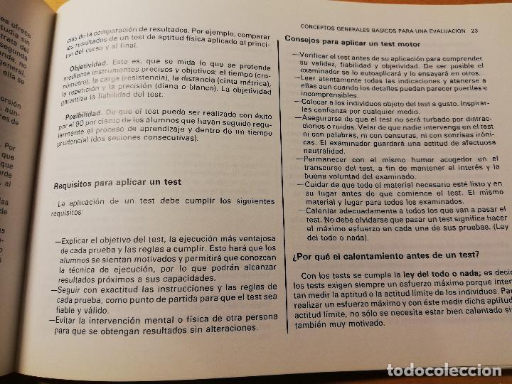 Coleccionismo deportivo: EVALUACIÓN DE LA EDUCACIÓN FÍSICA Y LOS DEPORTES. LOS TESTS DE LABORATORIO AL CAMPO (AUGUSTO PILA) - Foto 9 - 188512846