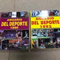 Colecionismo desportivo: LOTE DE ANUARIOS DEL DEPORTE AÑOS 1990 & 1992. Lote 192253463