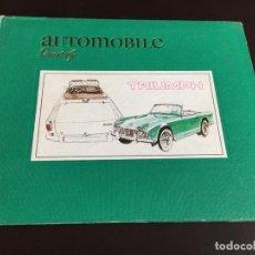 Collezionismo sportivo: AUTOMOBILE QUARTERLY BOOK LIBRO VOL 11 Nº2 TRIUMPH ALFA ROMEO 1973. Lote 192893425