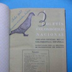 Coleccionismo deportivo: BOLETIN COLOMBOFILO NACIONAL - PALOMAS, AÑO 1952 COMPLETO 12 NUMEROS. Lote 193245013