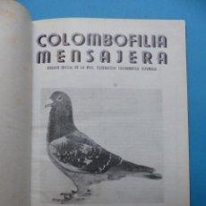 Coleccionismo deportivo: COLOMBOFILIA MENSAJERA - PALOMAS, AÑO 1954 COMPLETO 12 NUMEROS. Lote 193245377