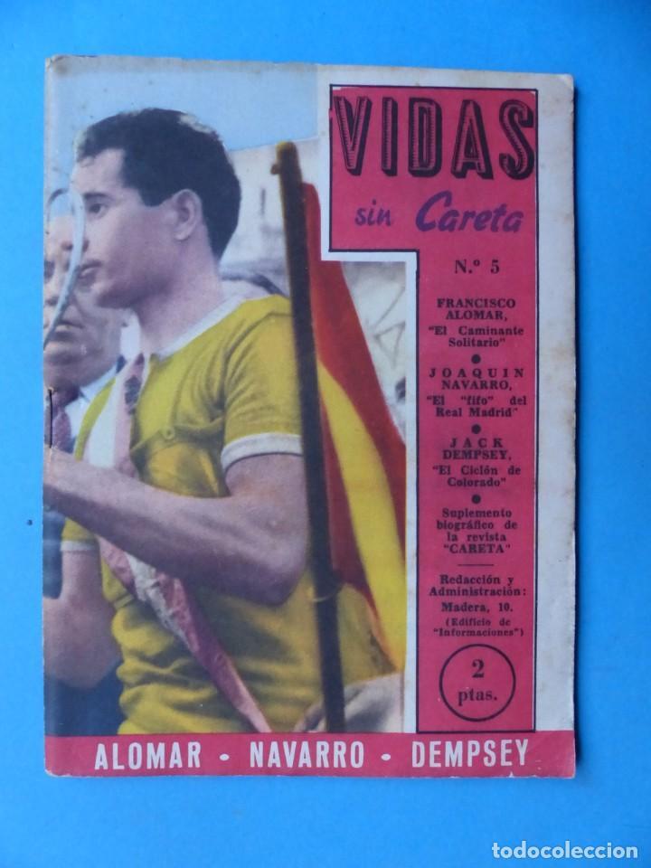 Coleccionismo deportivo: VIDAS SIN CARETA, 9 REVISTAS - AÑOS 1940 - Foto 2 - 193246526