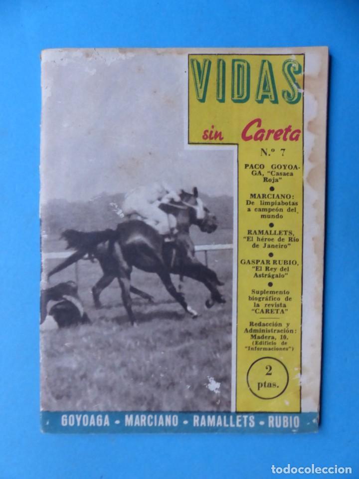 Coleccionismo deportivo: VIDAS SIN CARETA, 9 REVISTAS - AÑOS 1940 - Foto 4 - 193246526