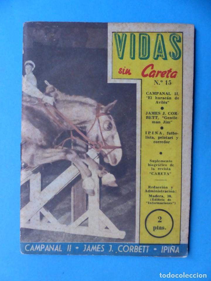 Coleccionismo deportivo: VIDAS SIN CARETA, 9 REVISTAS - AÑOS 1940 - Foto 5 - 193246526