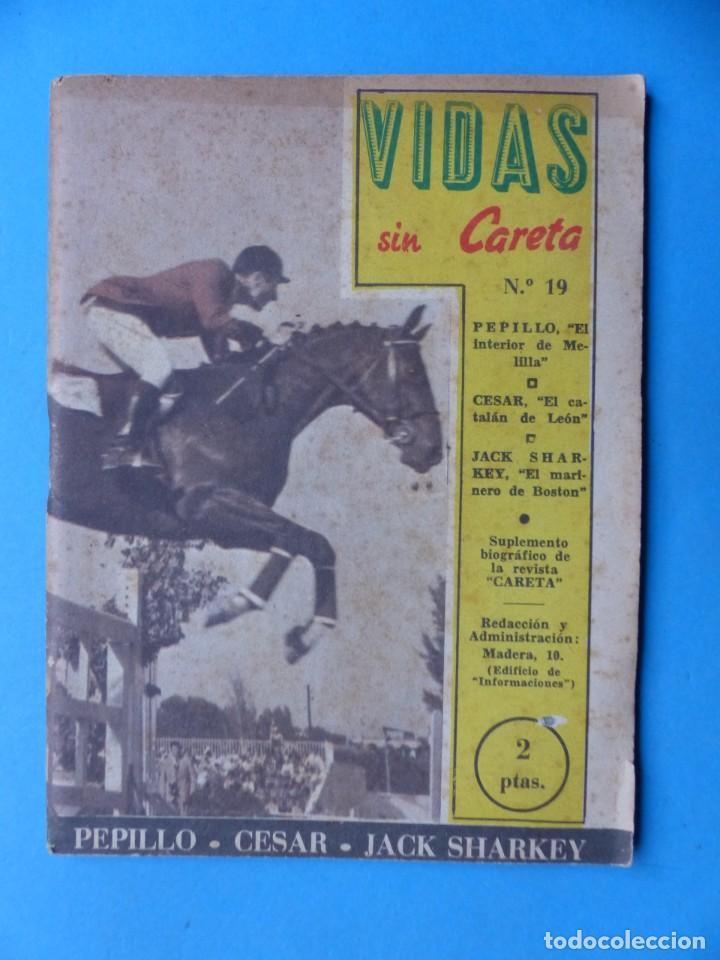 Coleccionismo deportivo: VIDAS SIN CARETA, 9 REVISTAS - AÑOS 1940 - Foto 6 - 193246526