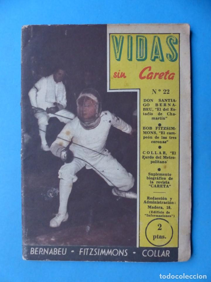 Coleccionismo deportivo: VIDAS SIN CARETA, 9 REVISTAS - AÑOS 1940 - Foto 7 - 193246526