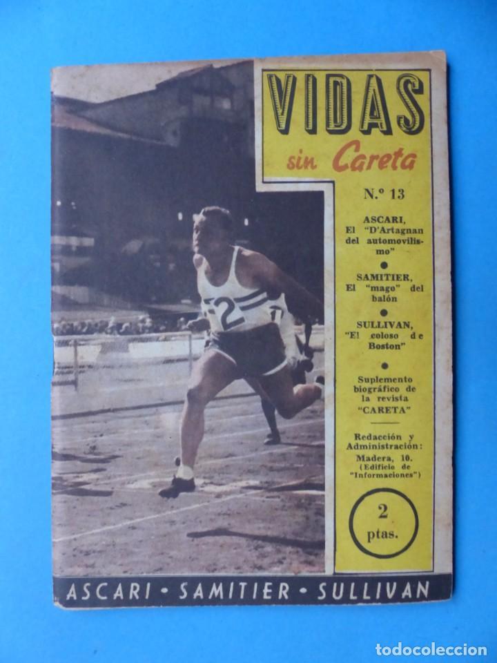 Coleccionismo deportivo: VIDAS SIN CARETA, 9 REVISTAS - AÑOS 1940 - Foto 8 - 193246526