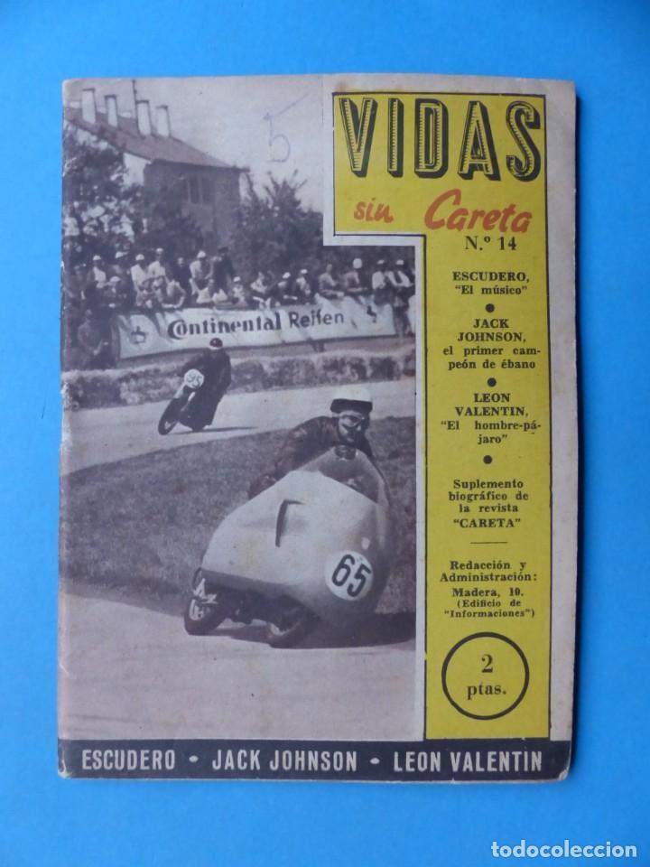 Coleccionismo deportivo: VIDAS SIN CARETA, 9 REVISTAS - AÑOS 1940 - Foto 9 - 193246526