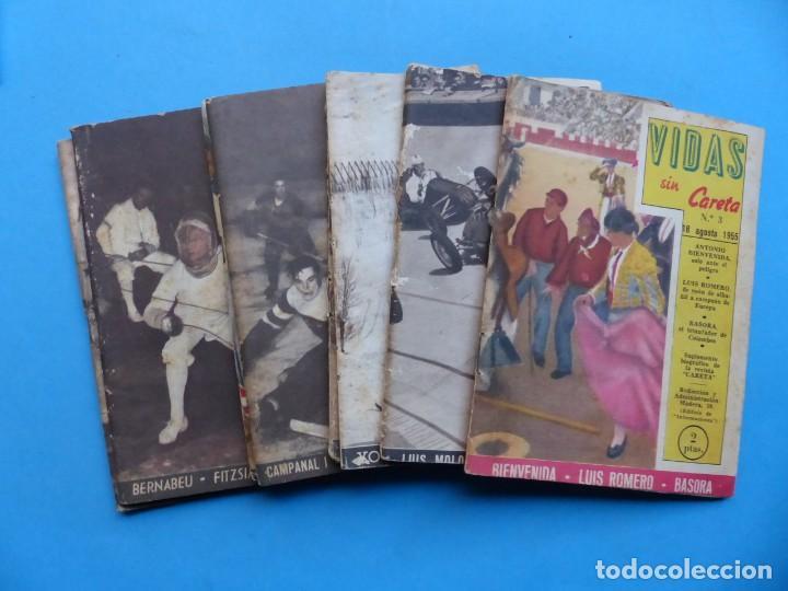 VIDAS SIN CARETA, 9 REVISTAS - AÑOS 1940 (Coleccionismo Deportivo - Libros de Deportes - Otros)