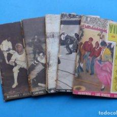 Coleccionismo deportivo: VIDAS SIN CARETA, 9 REVISTAS - AÑOS 1940. Lote 193246717