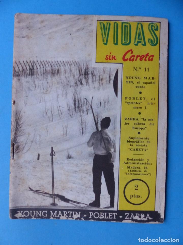 Coleccionismo deportivo: VIDAS SIN CARETA, 9 REVISTAS - AÑOS 1940 - Foto 4 - 193246717
