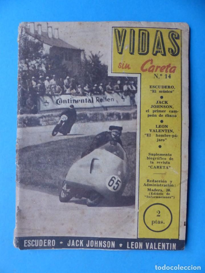 Coleccionismo deportivo: VIDAS SIN CARETA, 9 REVISTAS - AÑOS 1940 - Foto 5 - 193246717
