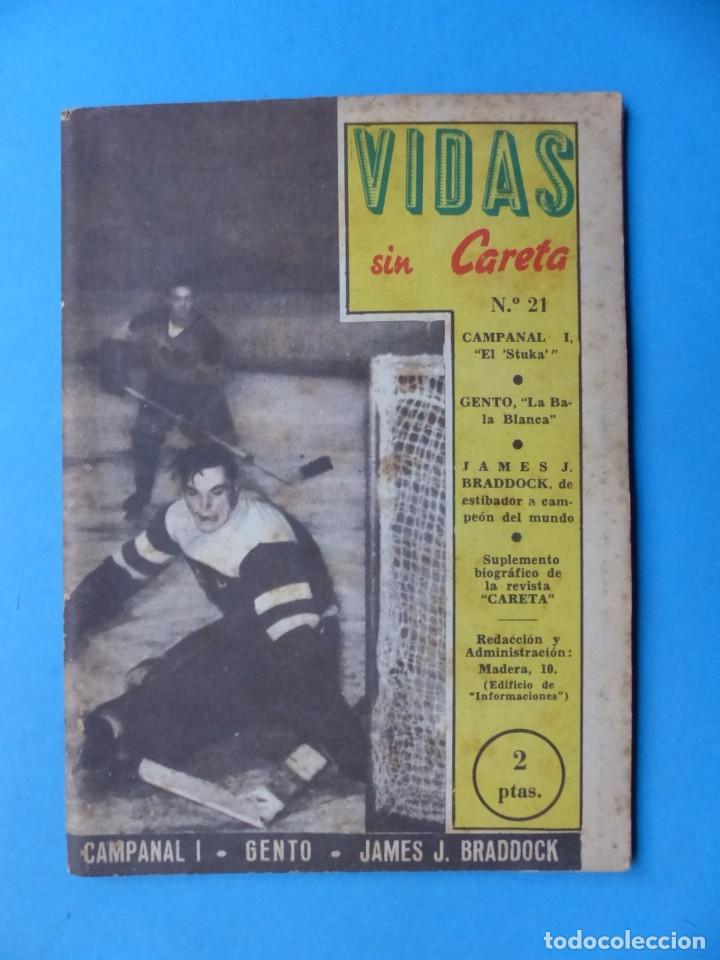 Coleccionismo deportivo: VIDAS SIN CARETA, 9 REVISTAS - AÑOS 1940 - Foto 6 - 193246717