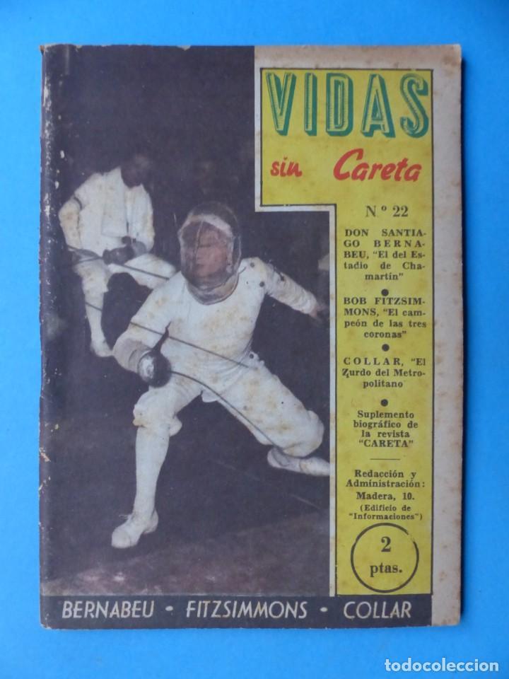 Coleccionismo deportivo: VIDAS SIN CARETA, 9 REVISTAS - AÑOS 1940 - Foto 8 - 193246717