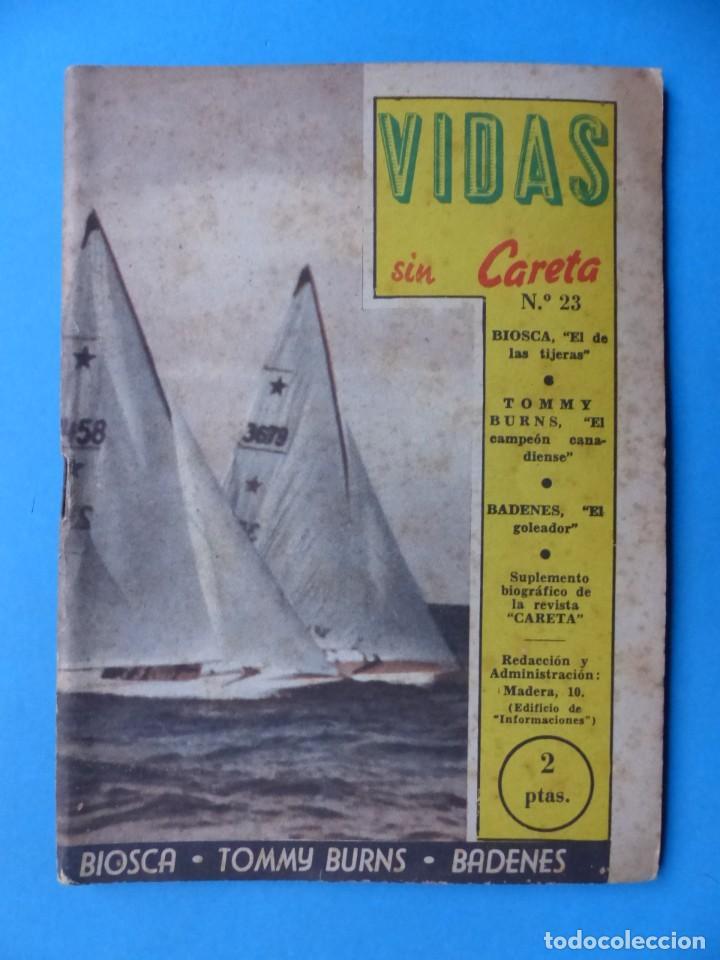 Coleccionismo deportivo: VIDAS SIN CARETA, 9 REVISTAS - AÑOS 1940 - Foto 9 - 193246717