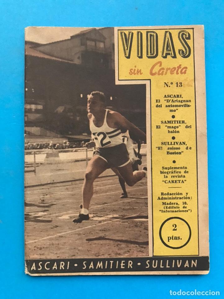 Coleccionismo deportivo: VIDAS SIN CARETA, 9 REVISTAS - AÑOS 1940 - Foto 10 - 193246717