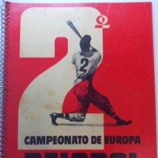 Coleccionismo deportivo: BÉISBOL CAMPEONATO DE EUROPA 1955 BARCELONA. Lote 193428393