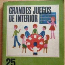 Coleccionismo deportivo: GRANDES JUEGOS DE INTERIOR - 100 IDEAS. EDITORIAL VILAMALLA.. Lote 193996495