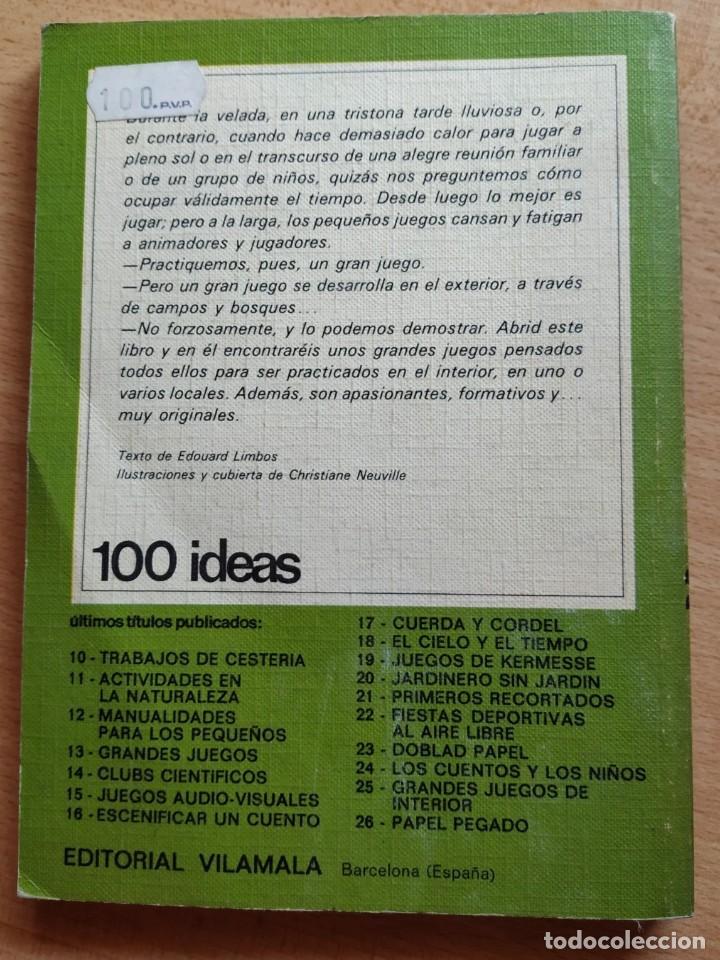 Coleccionismo deportivo: GRANDES JUEGOS DE INTERIOR - 100 IDEAS. EDITORIAL VILAMALLA. - Foto 2 - 193996495