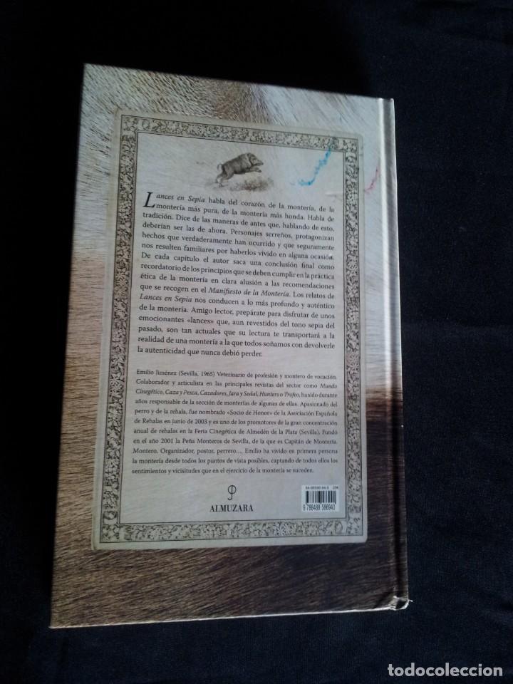 Coleccionismo deportivo: EMILIO JIMENEZ - LANCES EN SEPIA, FUNDAMENTOS MONTEROS - DEDICADO POR EL AUTOR - ALMUZARA 2006 - Foto 2 - 194263182