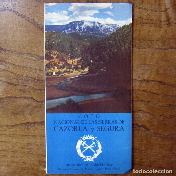 COTO NACIONAL DE LAS SIERRAS DE CAZORLA Y SEGURA - CAZA, PESCA - FOLLETO, CON MAPAS - COTOS (Coleccionismo Deportivo - Libros de Deportes - Otros)