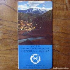 Coleccionismo deportivo: COTO NACIONAL DE LAS SIERRAS DE CAZORLA Y SEGURA - CAZA, PESCA - FOLLETO, CON MAPAS - COTOS. Lote 194330000