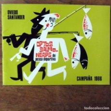 Coleccionismo deportivo: COTOS SALMONEROS DE PESCA DEPORTIVA - OVIEDO, SANTANDER - CAMPAÑA 1966 - . Lote 194330658