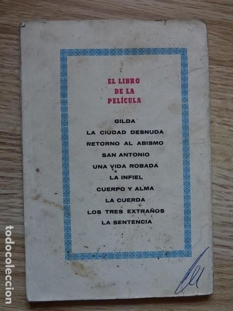 Coleccionismo deportivo: CUERPO Y ALMA. EL LIBRO DE LA PELÍCULA. WARWICK MANNON año 1952 boxeo - Foto 5 - 195127246