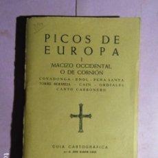 Coleccionismo deportivo: PICOS DE EUROPA - MACIZO OCCIDENTAL O DE CORNION - ED ALPINA. Lote 195252315