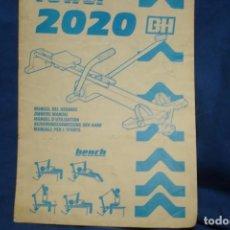 Coleccionismo deportivo: MANUAL DEL USUARIO DEL ROWER 2020 BH. Lote 195334211