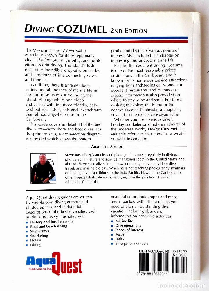 Coleccionismo deportivo: Guía de Buceo COZUMEL Mexico (Cozumel Diving Guide) • Excelente 120pp COLOR 25x18cm (2ª ed. 2004) - Foto 2 - 195669417