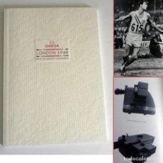 Coleccionismo deportivo: LIBRO CATÁLOGO OMEGA HISTORIA CRONÓMETRO RELOJES JUEGOS OLÍMPICOS DE LONDRES 1948 DEPORTE JJOO FOTOS. Lote 200559842