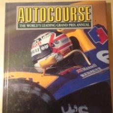 Coleccionismo deportivo: AUTOCOURSE ANUARIO DEFINITIVO FORMULA 1 F1 1992-1993 -LIBRO EN INGLÉS.. Lote 201961435