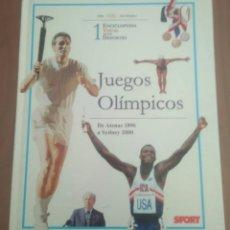 Coleccionismo deportivo: JUEGOS OLIMPICOS ENCICLOPEDIA VISUAL 1.SPORT,DE ATENAS 1896 A SYDNEY.MUCHAS ILUSTRACIONES.. Lote 205538255