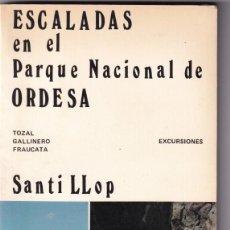 Coleccionismo deportivo: SANTI LLOP: ESCALADAS EN EL PARQUE NACIONAL DE ORDESA. 1986. Lote 206161407