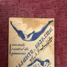 Coleccionismo deportivo: ANTIGUO REGLAMENTO DE NATACIÓN. Lote 206289428