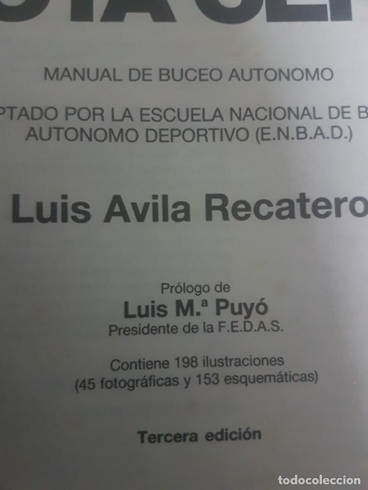 Coleccionismo deportivo: Submarinismo Buceo - Por debajo de la Cota Cero - Luis Avila Recatero - 1991 Barcelona - Foto 2 - 206396188