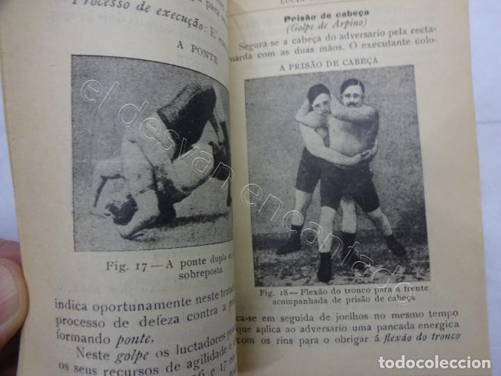 Coleccionismo deportivo: Cuadernillo muy ilustrado de lucha GRECO-ROMANA. Edición portuguesa 1917 - Foto 4 - 207483861