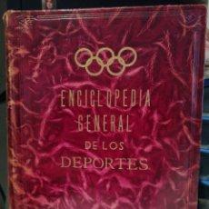 Coleccionismo deportivo: ENCICLOPEDIA GENERAL DE LOS DEPORTES AÑOS 50 FIRMA IMPRESA DEL GENERAL MOSCARDÓ. Lote 207601128