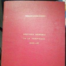 Coleccionismo deportivo: RESUMEN MEMORIA FEDERACION CATALANA DE HOCKEY 1966/67. Lote 208105613