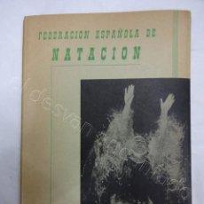 Colecionismo desportivo: FEDERACIÓN ESPAÑOLA DE NATACION. ANUARIO 1954. Lote 208227083