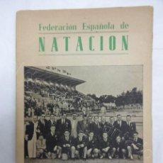 Colecionismo desportivo: FEDERACIÓN ESPAÑOLA DE NATACION. ANUARIO 1952. Lote 208227216