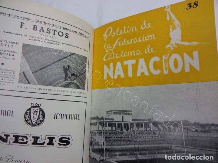 Coleccionismo deportivo: Boletin FEDERACION CATALANA DE NATACION. Año 1947. Completo en un tomo - Foto 2 - 208227486