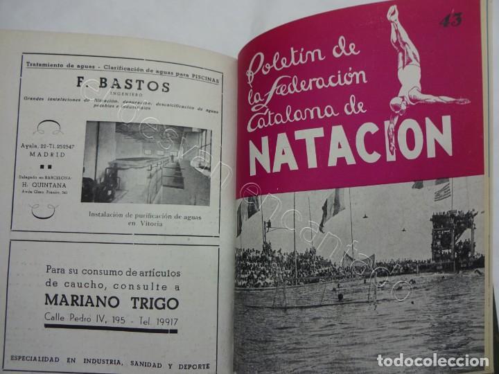 Coleccionismo deportivo: Boletin FEDERACION CATALANA DE NATACION. Año 1947. Completo en un tomo - Foto 3 - 208227486
