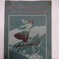 Coleccionismo deportivo: CENTRE EXCURSIONISTA DE CATALUNYA. SPORTS D´HIVERN 1913.. Lote 208235283