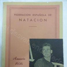 Colecionismo desportivo: FEDERACION ESPAÑOLA DE NATACION. ANUARIO 1956. Lote 208494952