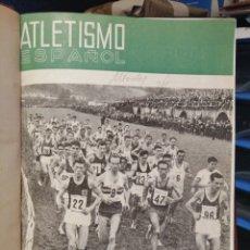 Coleccionismo deportivo: ATLETISMO ESPAÑOL PUBLICACION OFICIAL DE LA FEDERACION ESPAÑOLA DE ATLETISMO AÑO 1966 COMPLETO. Lote 208570015