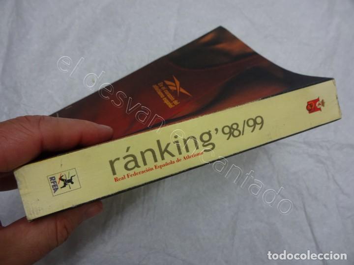 Coleccionismo deportivo: Real Federacion Española de ATLETISMO. Libro RANKING 98/99. 627 páginas - Foto 4 - 208927180